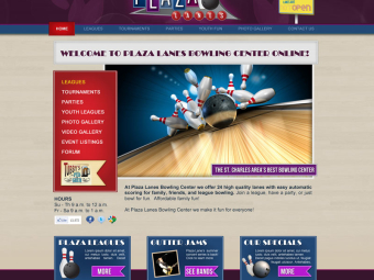 Plaza Lanes Website