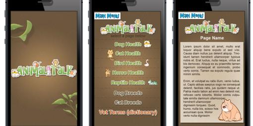 Animal Talk Mobile Site