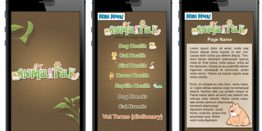 Animal Talk Mobile Site